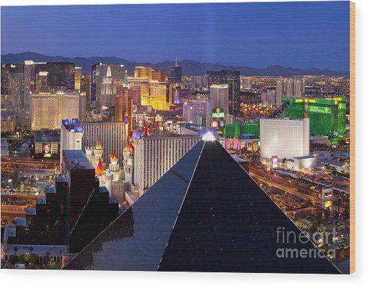 Las Vegas Skyline Wood Print