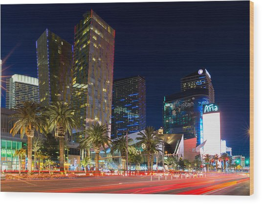 Las Vegas Strip Wood Print