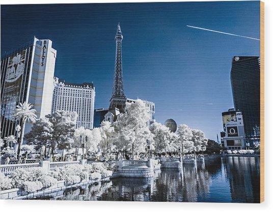 Las Vegas Strip In Infrared 2 Wood Print