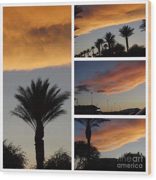 Las Vegas Sunset Wood Print