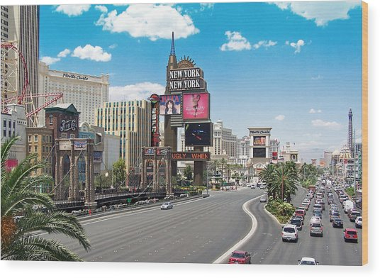 Las Vegas Wood Print