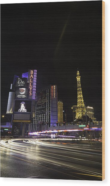 Las Vegas Traffic 11 Wood Print