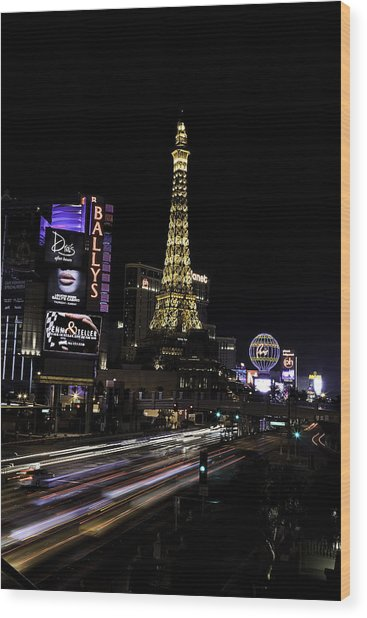 Las Vegas Traffic 5 Wood Print