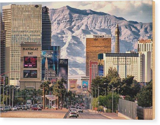 Las Vegas Nevada Wood Print