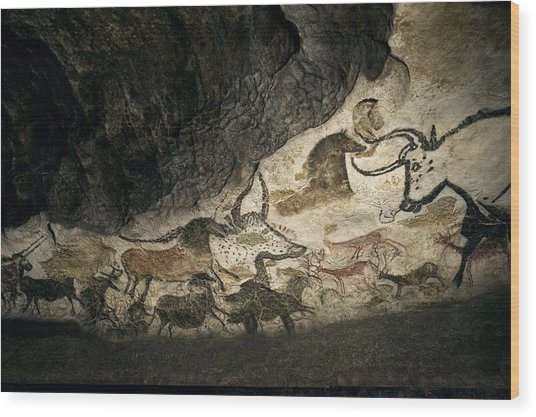 Lascaux II Cave Painting Replica Wood Print by Science Photo Library