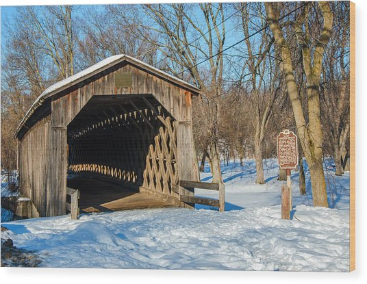 Last Covered Bridge Wood Print