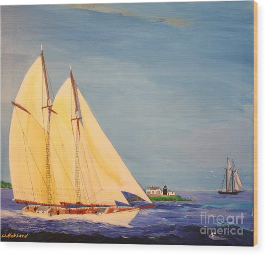 Last Cruise Of Sch. Arethusa Wood Print
