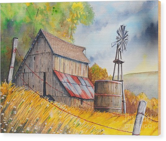 Last Days Of Summer Wood Print