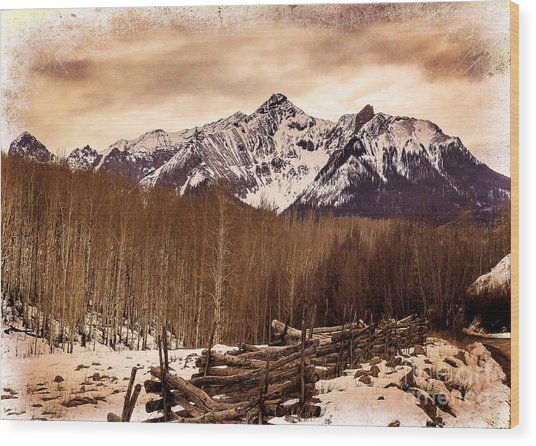 Last Dollar Road Winter Wood Print