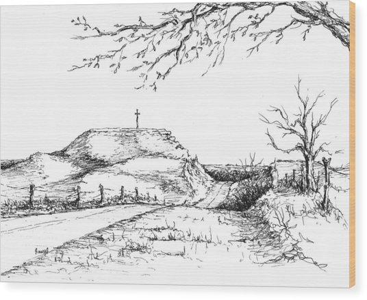 Last Hill Home Wood Print