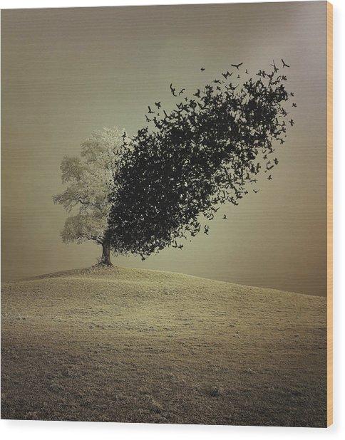 Last Hope Wood Print by Radin Badrnia