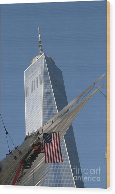 Last Large Wtc Oculus Rafter Raised Three Wood Print