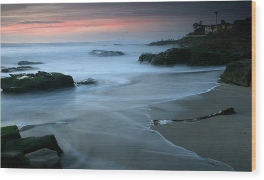 Last Light At Windansea Beach Wood Print