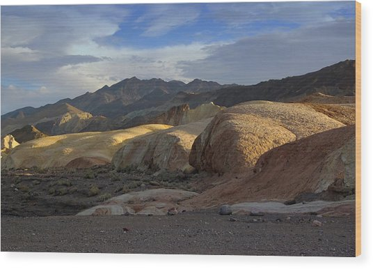 Last Light In Death Valley Wood Print