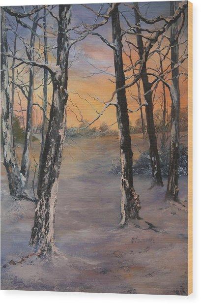 Last Of The Sun Wood Print