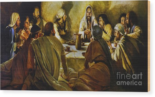 Last Supper Reproduction Wood Print