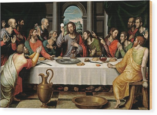Last Supper Wood Print