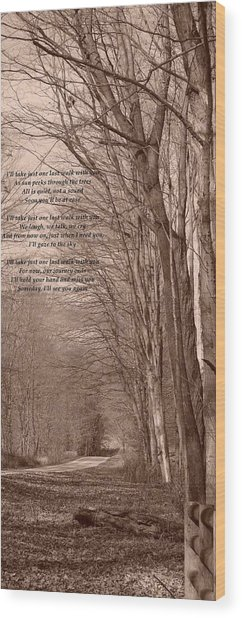 Last Walk Wood Print by BandC  Photography