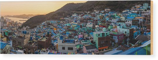 Late Afternoon In Gamcheon Wood Print