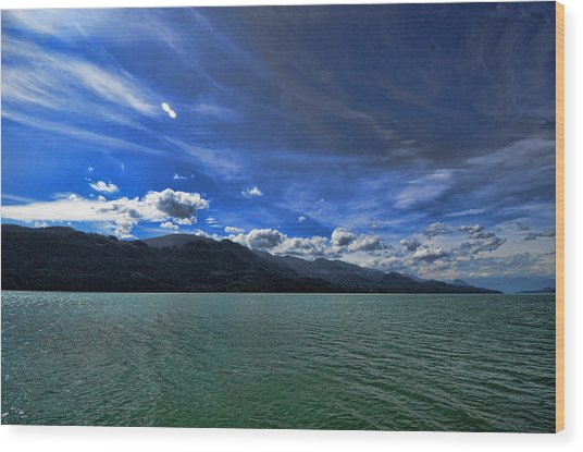 Late Afternoon On Harrison Lake Bc Wood Print