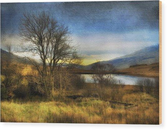 Snowdonia Autumn Lake Wood Print