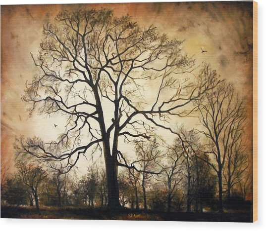 Late Autumn Wood Print