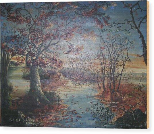 Late Fall Wood Print