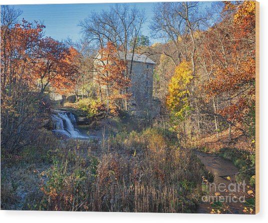Late October At Pickwick Mill II Wood Print