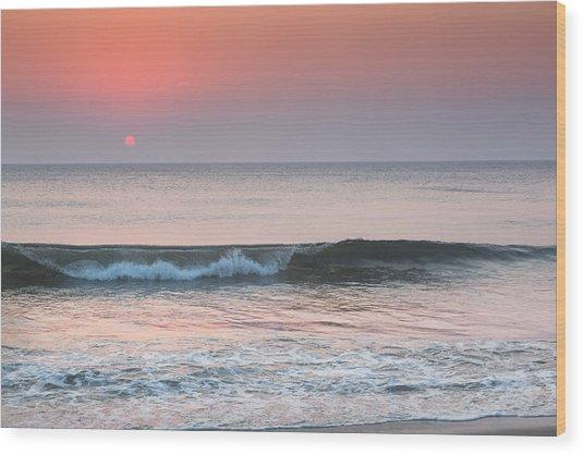Late Summer Sunrise Wood Print