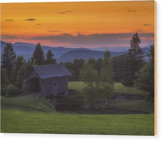 Late Summer Sunset Wood Print