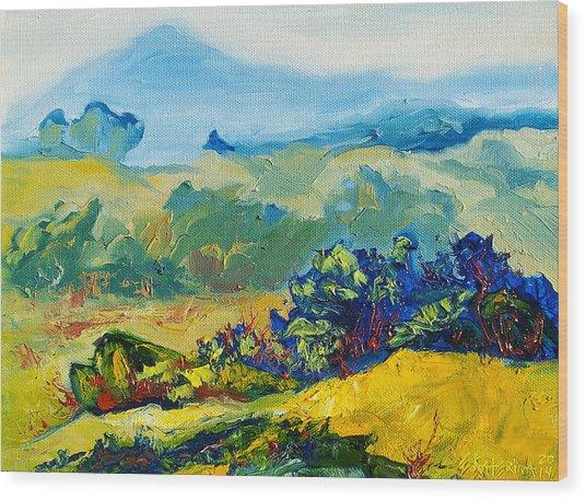 Late Summmer Landscape Wood Print