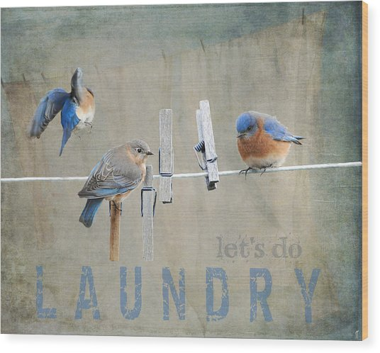Laundry Day - Lets Do Laundry Wood Print