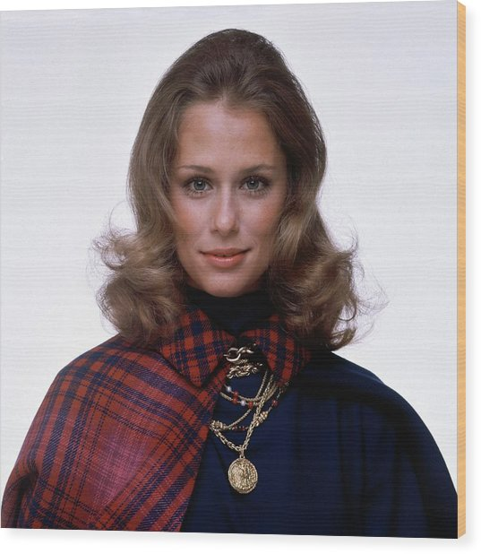 Laura Hutton Wearing Van Cleef & Arpel Necklaces Wood Print