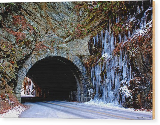 Laurel Creek Road Tunnel Wood Print
