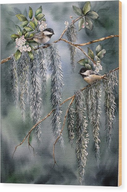 Laurel Meets Moss Wood Print