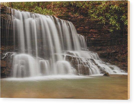 Laurel Run Falls Tn Wood Print