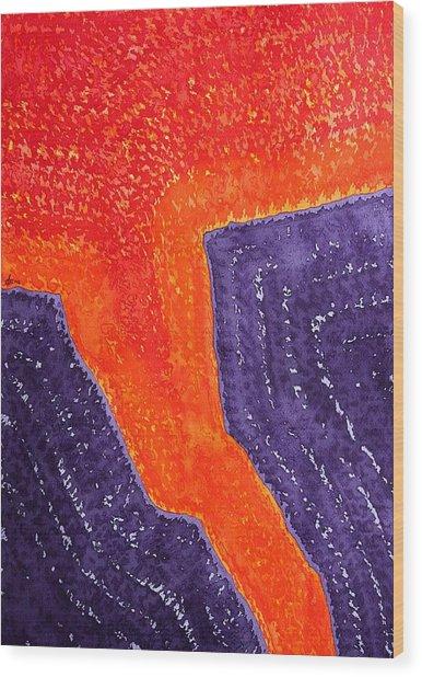 Lava Flow Original Painting Wood Print