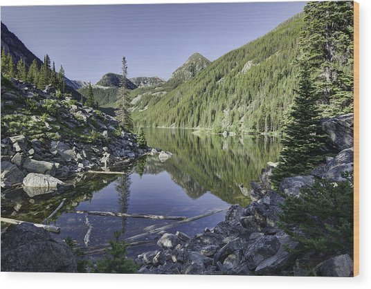 Lava Lake II Wood Print