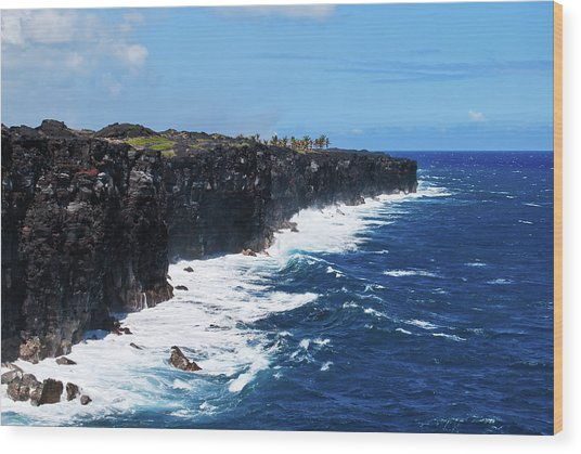 Lava Shore Wood Print