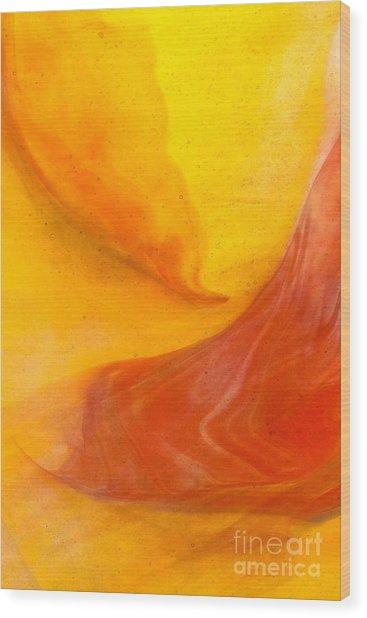 Lava Swirl Glass Abstact Wood Print