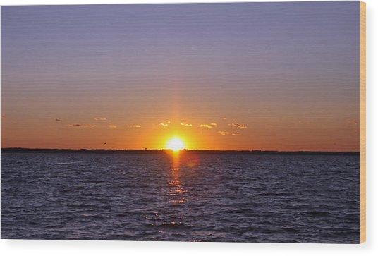 Lavallette Sunset I Wood Print by Dave Dos Santos