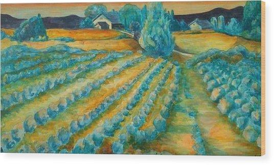 Lavendar Fields Wood Print by Bianca Romani