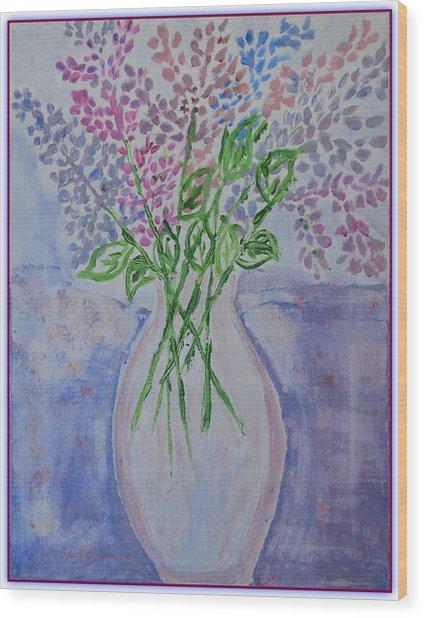 Lavendar  Flowers Wood Print