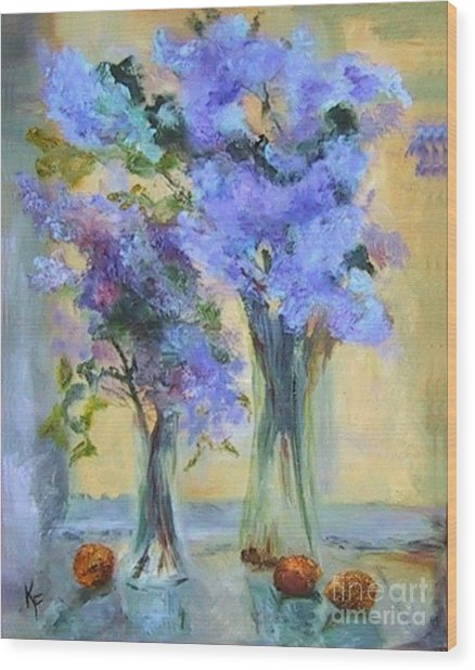 Lavender Bliss Wood Print by Kathleen Farmer