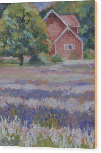Lavender Fields Wood Print