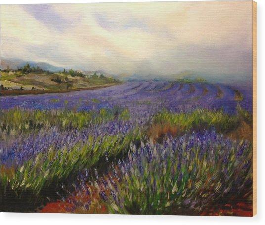Lavender In Oil Wood Print