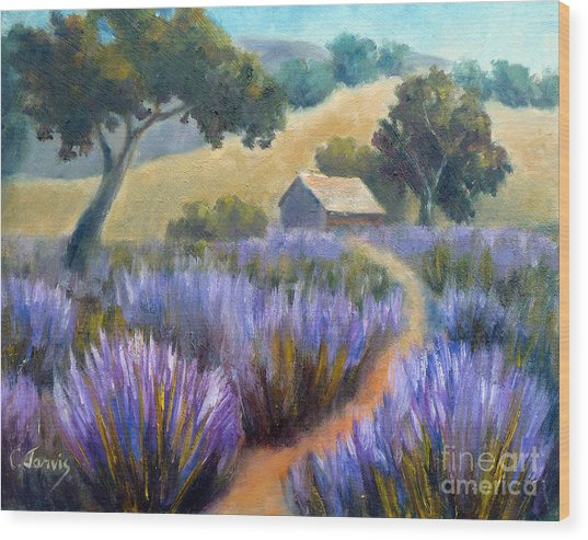 Lavender Path Wood Print