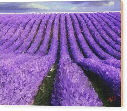 Lavender Straight Wood Print