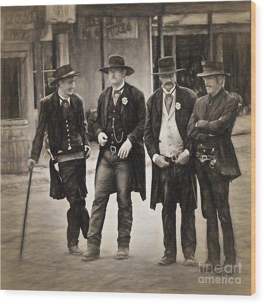 Lawmen And Armed Citizens  ... Wood Print