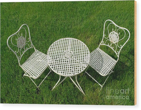 Lawn Furniture Wood Print